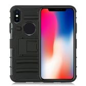 Cas de téléphone portable de rayure de parenthèse transversale pour IP8 dur Shell