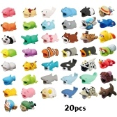 Cute Animal Bite Cable Data Protector Winder Organizer для смартфонов Data Line Phone Protection Accessories