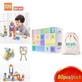 Xiaomi Bevaキッズビルディングブロックロボット子供のおもちゃのレンガデザイナー早期知育玩具子供誕生日プレゼント80ピース/ロット