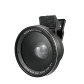 電話レンズ0.6x / 0.45x超広角+マクロレンズスマートフォンカメラレンズ取り外し可能クリップオン2 in 1携帯電話レンズカメラレンズキット