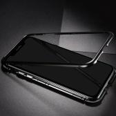 Caixa de telefone móvel de aro de metal vidro endurecido adsorção magnética proteção capa de smartphone bumper casos de quadros de alumínio de luxo para iphone 7p