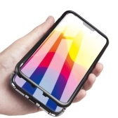 Magneto Magnetic Magnetic Adsorption Case Clear Templado Glass Black i-phone XS Max