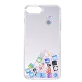 Quicksand APP Motif Cas de Téléphone pour iPhone 7 Plus iPhone 8 Plus Bling Mignon Cas de Téléphone de Protection Anti-poussière Anti-rayures