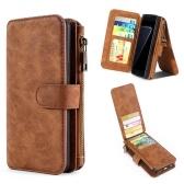 Для HUAWEI P9 Plus P9 Lite P9 Mate 9 Pro Mate 9 Многофункциональный магнитный бумажник с магнитной лентой Защитная футляр для телефонной карточки Съемная флип-кожаная обложка Стильная защита от царапин
