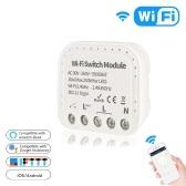 Module de commutation Wi-Fi 2 voies TY-WiFi-501 Commande vocale à distance sans fil DIY Smart Home Automation Hub Controller