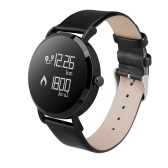 CV08 Herzfrequenz Blutdruck Smart Watch - PU Lederband