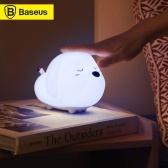 Baseus LED Night Light RGB Soft Silicone Touch Control Night Light Rechargeable Night Lamp For Children Kids Bedroom