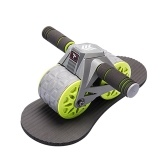 7th Ab Roller Abdominal Roller Wheel with Knee Pad Automatic Rebound Abdominal Wheel