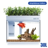 Xiaomi Youpin Desgeo Smart Fishbowl Goldfish Tank Sala de estar Escritorio para el hogar Pequeño acuario LED RGB Caja de peces de colores Trabaja con APP 220V