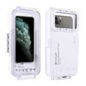 PULUZ 45m/147ft Diving Waterproof Case Mobile Phone Shell Smartphone Protective Cover Underwater Housing Case Shockproof 360° Full Protection Compatible with i-Phone