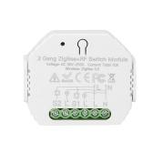 RSH-zigbee-SB20 2-канальный модуль ZigBee + RF Smart Switch с приложением / таймер расписания голосового дистанционного управления / общий доступ к устройству Контроллер включения / выключения мини-умного дома, совместимый с Alexa / Google Assistant
