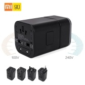 Xiaomi 90fun Multifunctional Travel Charger Qualcomm QC3.0/2.0 Quick Charge 2-port USB/Type C Power Adapter US Plug Phone Charger for iPhone iPad
