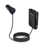 Автомобильное зарядное устройство 4 в 1 быстрое зарядное устройство 4 порта USB 36W 8A Передняя и задняя автомобильная быстрая зарядка для путешествий Портативное зарядное устройство для мобильного телефона для iPhone Samsung Huawei Xiaomi