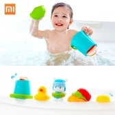 7 шт. / Лот Xiaomi Mitu Hape Baby Shower Игрушка Set Дети Симпатичные Ванны Игрушка Набор Купальный Костюм Цвет Экологической Безопасности Мультфильм Несколько Геймплей