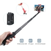 Selfie Stick Aluminum Alloy BT Phone Selfie Stick Free Retractable Rod