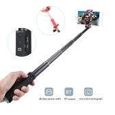 Selfie Stick Aleación de aluminio BT Teléfono Selfie Stick Barra retráctil gratuita