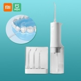Xiaomi Mijia Oral Irrigator Portable Water Dental Flosser Water Jet Cleaning Tooth Toothpick Mouthpiece Denture Cleaner Teeth Brush 2200mAh USB Rechargeable 200ml Water Tank