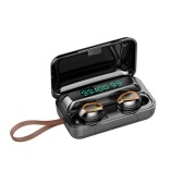 F9 TWS In-Ear BT Earphones with Stereo Sound Black