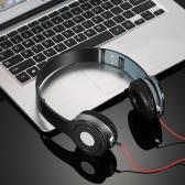 ステレオイヤホン高品位オンイヤーヘッドフォン折り畳み式ヘッドフォン調節可能ヘッドバンドヘッドセット40mm径ドライブユニットスマートフォン用3.5mmオーディオケーブルタブレットラップトップ