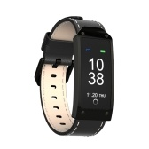 Smart Sports Bracelet Fitness Tracker Smart Wristband 0.96 inch TFT Color Screen Leather Band BT 4.0 Smart Band Pedometer Heart Rate Blood Pressure Monitoring Sleep Monitor Call Message Reminder Remote Camera for iOS Android Smartphones