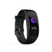 Ecran couleur HD Smart Wristband QS100 Multi-Sports Mode Surveillance de l'oxygène de la pression artérielle Whatsapp Information Push Watch