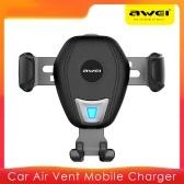 AWEI Car Charger Schwerkraftgestänge Mobile Halterung Ladegerät ohne Kabel Auto Clamping Air Vent Mount Holder
