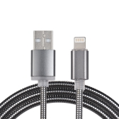 3.3Ft 8-pin Lightning Metal Spring Charging Cable Sync Data Line Cord for iPhone 8 X iPad Pro