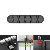Suporte de cabos Organizador de cabos de silicone Enrolador de mesa Suporte de clipes de gerenciamento organizados para fone de ouvido Carregador de fone de ouvido Cabo de dados para uso doméstico