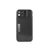 PHOLES X1 Custodia per lenti per telefono per iPhone X Fisheye Obiettivo macro teleobiettivo grandangolare con custodia protettiva in TPU