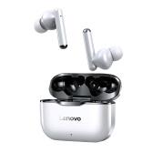 Youpin Lenovo LP1 Echte kabellose Ohrhörer BT 5.0-Kopfhörer TWS-Stereo-Ohrhörer mit Touch-Control-Dual-Hosts TWS-Headsets IPX4 Wasserdichte Sportkopfhörer mit Rauschunterdrückungstechnologie Eingebautes Mikrofon-Headset mit HD-Anruf für das Gaming-Sport-Fitnessstudio