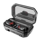 Drahtlose Ohrhörer BT 5.0 Kopfhörer TWS Stereo Ohrhörer mit Mikrofon Touch Control IPX7 Wasserdichte Sportkopfhörer im Ohr mit CVC 8.0 und DSP Dual Noise Reduction 2000mAh Power Bank Case Lange Spielzeit für Sportspiele M15