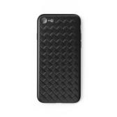 WSKEN Funda protectora para teléfono con tejido para iPhone 7/8 Funda forrada con cable para teléfono Shell duradero Funda de TPU resistente a los golpes a prueba de arañazos