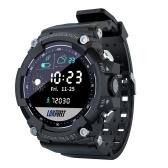 LOKMAT ATTACK 2 Smart Sports Watch 1.28 pollici TFT Full-Touch Screen BT5.1 IP68 Impermeabile 10 modalità sportive professionali Fitness Tracker Sonno/Frequenza cardiaca/Monitor della pressione sanguigna Notifica/Chiamata/Promemoria sedentario Fotocamera remota/Controllo musica Compatibile con Android iOS