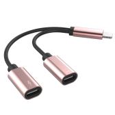 Appel téléphonique de contrôle de fil de charge audio avec une paire d'adaptateur multifonctionnel de foudre pour IPhone 7 / 7P