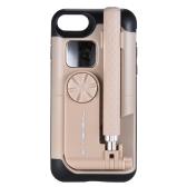 TASHELLS Portable Sans Fil Selfie Bâton Téléphone Cas Pour iPhone 7/8 Pliable Téléphone Shell Selfie Bâton 2 en 1