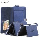 FLOVEME Custodia a portafoglio per Samsung Galaxy S6 / S6 Edge / S7 Custodia in pelle PU rimovibile con porta tessere