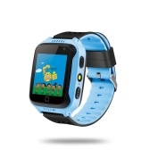 "Kids Smart Watch Phone for Children Girls Boys 1.44"" TFT Touch Screen GPS Locator Tracker Built-in Camera Flashlight Smartwatch with SIM Card Slot Remote Voice Monitoring Calls SOS Alarm Suitable for iOS Android Smartphones"