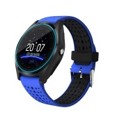 """多機能V9スマートウォッチBT Smartwatch 1.22 """"タッチスクリーンIPSディスプレイ内蔵カメラ付きSIMカード&TFカードスロット腕時計歩数計睡眠モニター"""