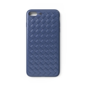 WSKEN Weaving Protective Phone Case para iPhone 7 8 Plus Teléfono ventilado y forrado Shell Durable TPU Cover Antichoque a prueba de arañazos