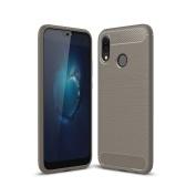 Cas de téléphone Fibre de Carbone Dessin TPU Couverture de Protection de Téléphone Simple Léger Protecteur de Téléphone Mobile pour HUAWEI P20 Lite