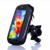 Saco de telefone de bicicleta impermeável bicicleta quadro frontal feixe guiador saco de armazenamento