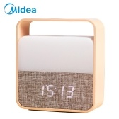 Relógio despertador Midea com luz noturna recarregável pequeno abajur LED relógio com dimmer para crianças sala de estar ao ar livre