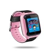 """Crianças smart watch telefone para crianças meninas meninos 1.44 """"tft touch screen localizador gps tracker câmera embutida lanterna smartwatch com slot para cartão SIM remoto monitoramento de voz chamadas sos alarme adequado para ios android smartphones"""