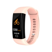 F07 IP68 Tela a cores impermeável Banda Fitness Braceletes inteligentes Heart-rate BT Sport Wristband Calls Notification Activity Tracking Sleep Monitor para iPhone 8 Plus Samsung S8 + iOS8 Android4.4