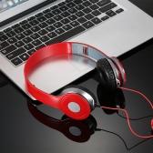 Auricolari stereo ad alta definizione Cuffie on-ear Cuffie pieghevoli Cuffie regolabili Cuffie da 40 mm Diametro unità driver Design a cielo aperto con cavo audio da 3,5 mm per smartphone Tablet PC portatili