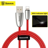 Xiaomi Baseus Torch Data Cable With Indicator Light USB Charger Charging Cable 2.4A Fast Charging Line For iPhone CALHJ-D09