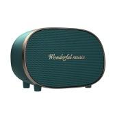 Retro Wireless BT5.0 Speaker BT2630 Support AUX/TF Card Slot