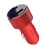 ROCK RCC0127 Sitor Chargeur de voiture avec LED Affichage numérique 2-Port USB 5V3.4A cigarette allume-cigare adaptateur pour iPhone Samsung Smartphone comprimés