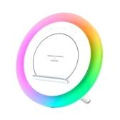 Беспроводное зарядное устройство Huaqu, 10 Вт, RGB, красочный свет, настольная лампа BT5.0, динамик, HQY-02
