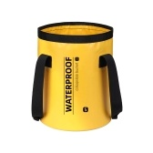 INUO Faltbarer Eimer Kompakter tragbarer klappbarer Wasserbehälter Angeleimer Outdoor-Waschbecken Fußbadewanne für Reisen Camping Wandern Gartenarbeit